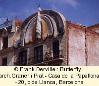 Art Nouveau Butterfly in Barcelona