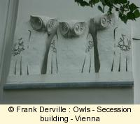 Art Nouveau owls in Vienna