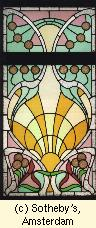 Hotel Aubecq (destroyed) : stain glass by Horta
