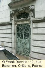 Art Nouveau door in Orl�ans