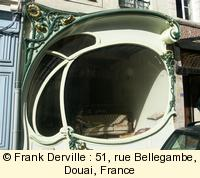 Art Nouveau shop window in Douai