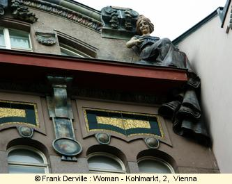 Art Nouveau woman in Vienna