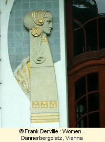 Art Nouveau women in Vienna